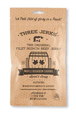 Image of Filet Mignon Maple Bourbon Churro Jerky - Sweet & Boozy Package