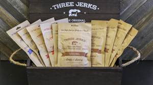 Image of Three Jerks Jerky Wood Gift Crate Package